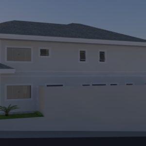 Renderização casa D e R