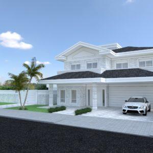 Residencia neo classica, 2 pavimentos. Area de lazer ampla, cozinha e churrasqueira integradas. 4 quartos sendo 1 suite. Elevador privativo.