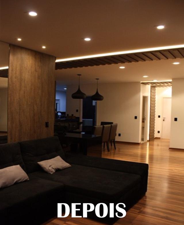 Reforma sala e cozinha antes e depois